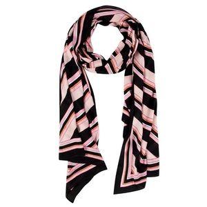 KATE SPADE aquatic stripe oblong scarf